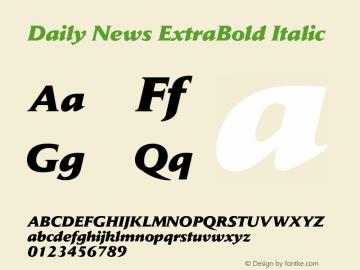 Daily News ExtraBold