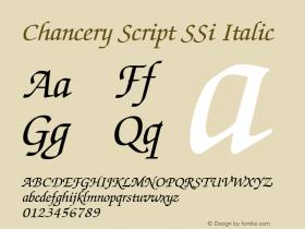 Chancery Script SSi