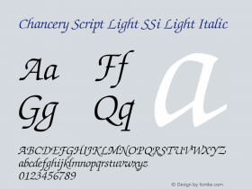 Chancery Script Light SSi