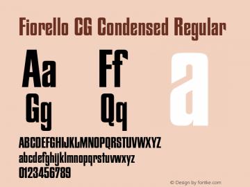 Fiorello CG Condensed