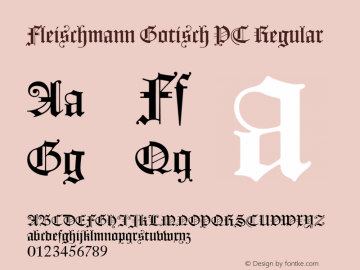 Fleischmann Gotisch PT