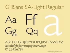 GillSans SA-Light