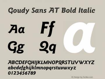 Goudy Sans AT Bold