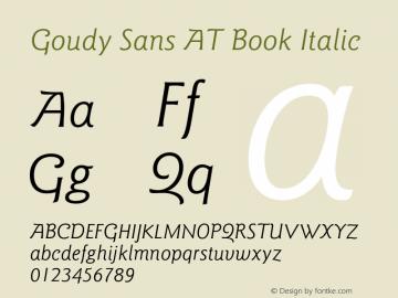 Goudy Sans AT Book