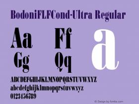 BodoniFLFCond-Ultra