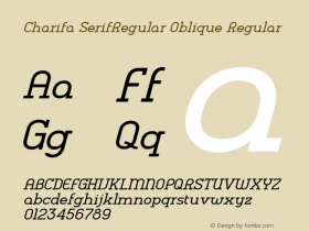 Charifa SerifRegular Oblique