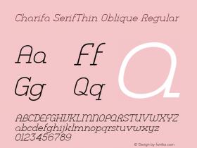 Charifa SerifThin Oblique