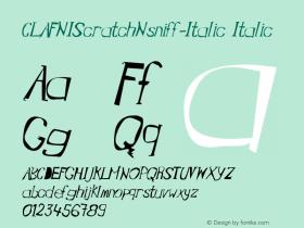 CLAFNIScratchNsniff-Italic