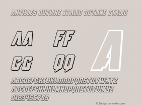 Antilles Outline Italic