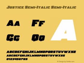 Justice Semi-Italic