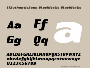 LTAuthenticSans BlackItalic