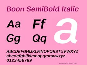 Boon SemiBold