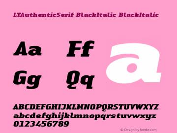 LTAuthenticSerif BlackItalic