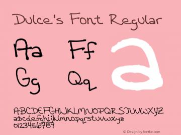 Dulce's Font