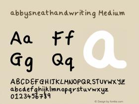 abbysneathandwriting