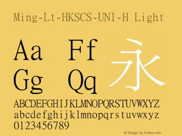 Ming-Lt-HKSCS-UNI-H