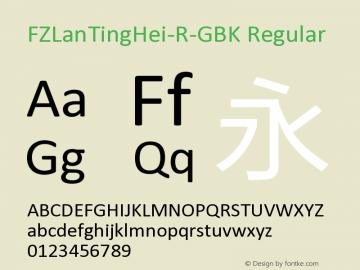 FZLanTingHei-R-GBK