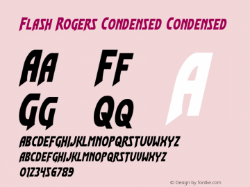 Flash Rogers Condensed