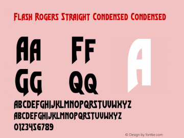 Flash Rogers Straight Condensed