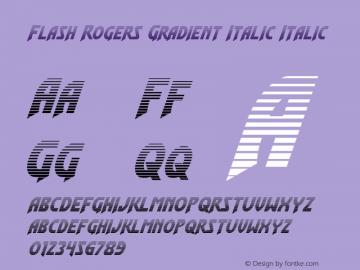 Flash Rogers Gradient Italic