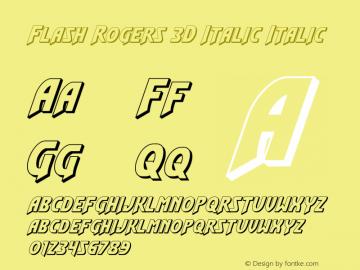 Flash Rogers 3D Italic