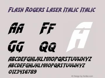 Flash Rogers Laser Italic