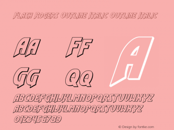 Flash Rogers Outline Italic