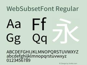 WebSubsetFont