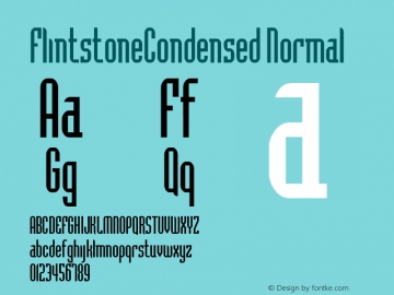 FlintstoneCondensed