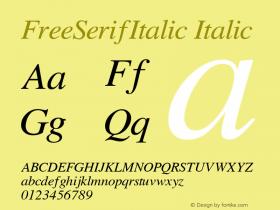 FreeSerifItalic
