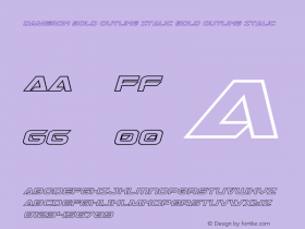 Dameron Bold Outline Italic