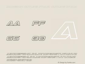 Dameron Outline Italic