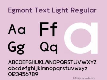 Egmont Text Light