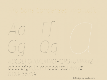 Fira Sans Condensed Two