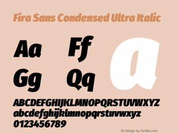 Fira Sans Condensed Ultra
