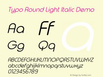Typo Round