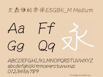 文鼎谁的字体E5GBK_M