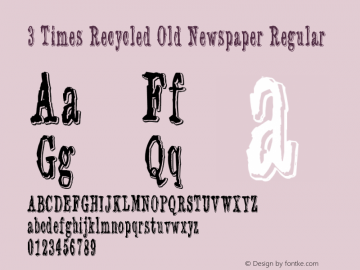3 Times Recycled Old Newspaper