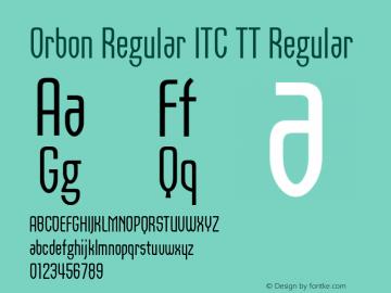 Orbon Regular ITC TT