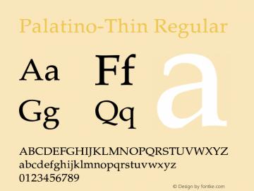 Palatino-Thin