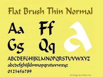 Flat Brush Thin