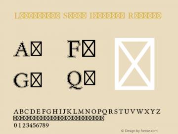 Libertinus Serif Initials