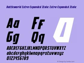 Battleworld Extra-Expanded Italic