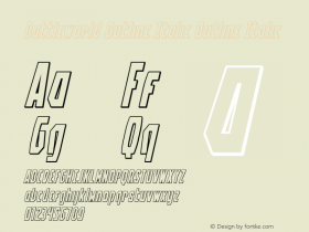 Battleworld Outline Italic