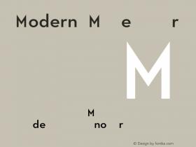 Modern M