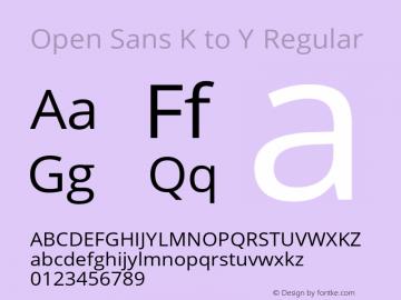 Open Sans Y to K