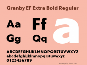 Granby EF Extra Bold
