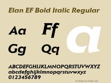 Elan EF Bold Italic