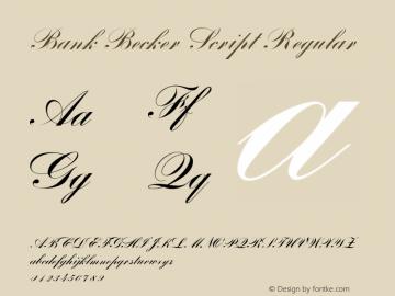 Bank Becker Script