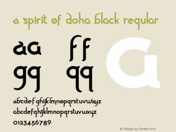 A Spirit Of Doha Black
